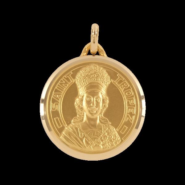 Médaille - Pendentif Or - 25mm - La Médaille de Saint-Tropez