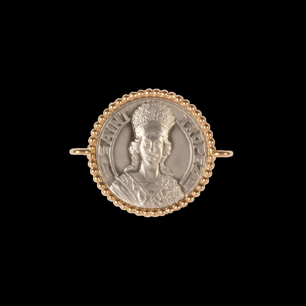 Médaille - Bracelet argent/or rose - 16mm - La Médaille de Saint-Tropez