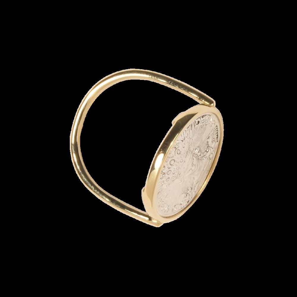 Bague Pescador Argent / Or Rose - La Médaille de Saint-Tropez