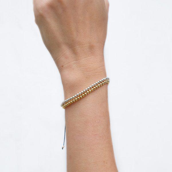 Bracelet Vermeil Gold / Argent - 2 mm - La Médaille de Saint-Tropez