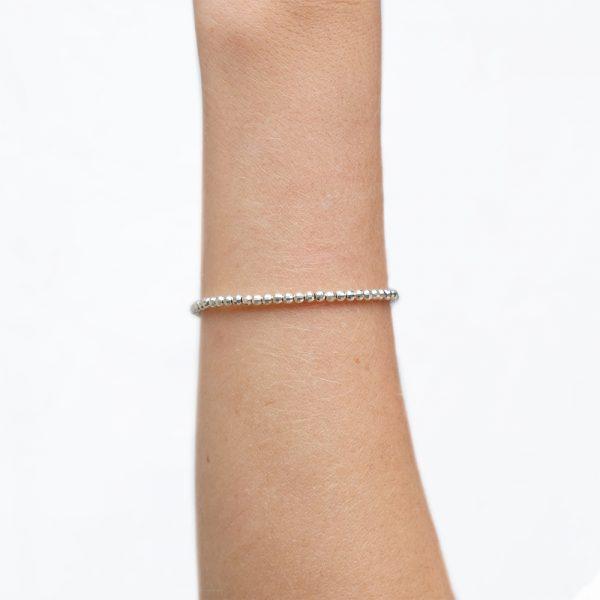 Bracelet Vermeil faceté Gold / Argent - 2 mm - La Médaille de Saint-Tropez