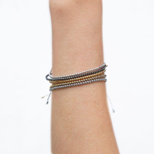 Bracelet Hematite Gold / Bronze / Vert / Argent / Anthracite - La Médaille de Saint-Tropez