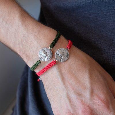 Médaille Matte - Bracelet argent - 18mm - La Médaille de Saint-Tropez