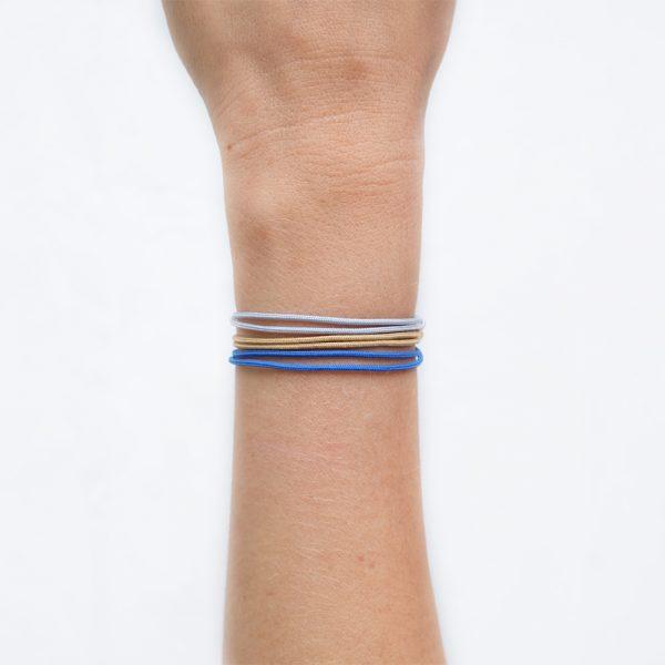 Cordon Gris Clair / Camel / Bleu Roi - La Médaille de Saint-Tropez _ Disponible chez Parker &
