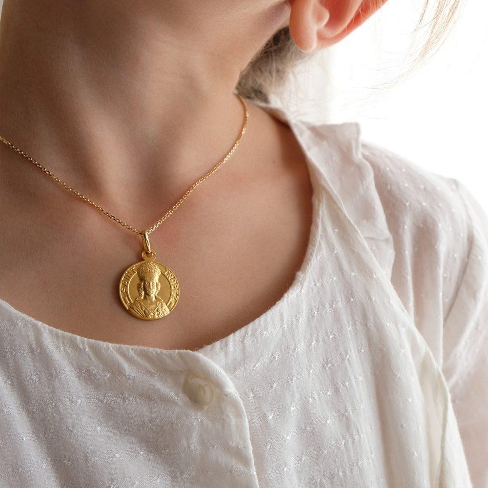 Médaille - Pendentif Argent - 16mm - La Médaille de Saint-Tropez