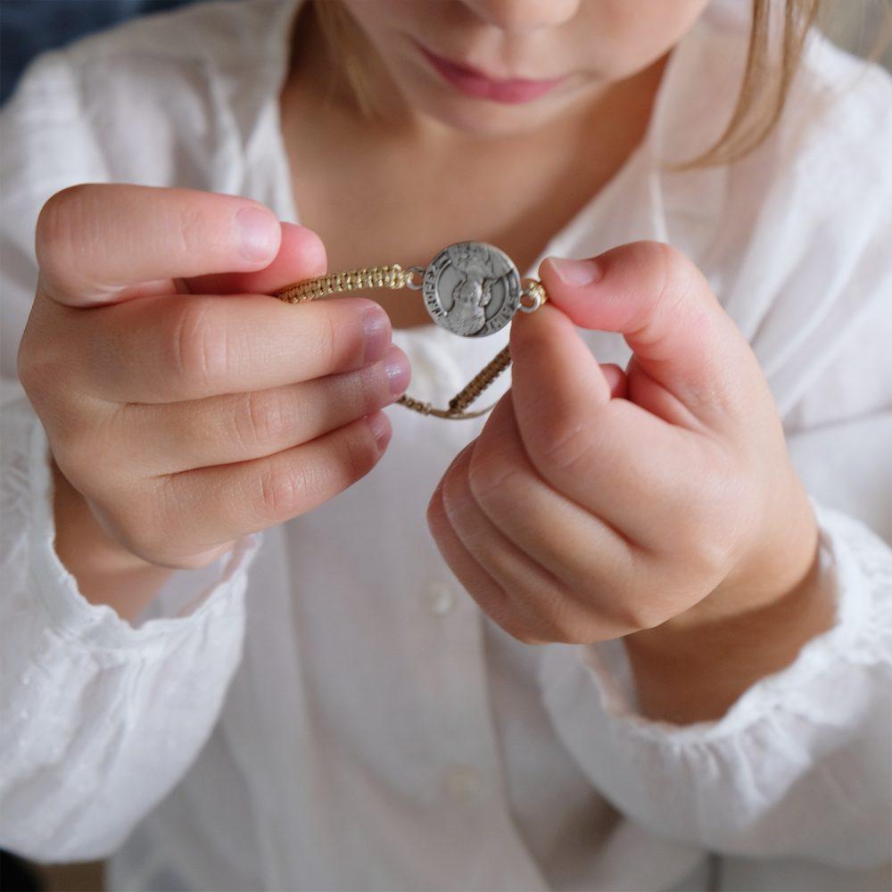 Médaille - Bracelet argent - 15mm - La Médaille de Saint-Tropez